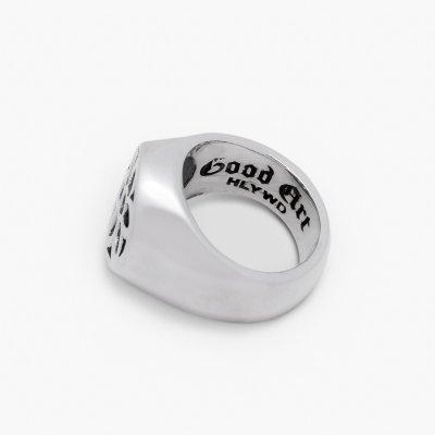 GOOD ART HLYWD Signet Rosette Ring  - Sterling Silver