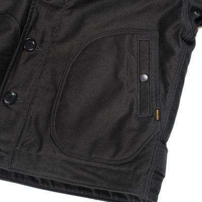 Alpaca Lined Whipcord N1 Deck Jacket - Black