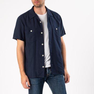 Rayon Bowling Shirt - Indigo
