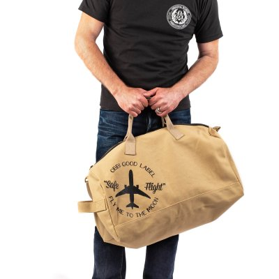 OGL Fly Me To The Moon Duffel Bag - Green or Khaki