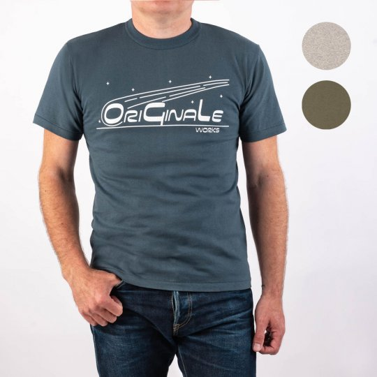 OGL 6.2oz Ringspun T-shirt - Silkscreen Printed 'OriGinaLe' - Heather Grey, Denim Blue or Olive