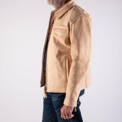 Iron Heart x Simmons Bilt Natural Horsehide Jacket - The Bareback