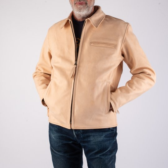 Iron Heart x Simmons Bilt Natural Horsehide Jacket - The Bareback