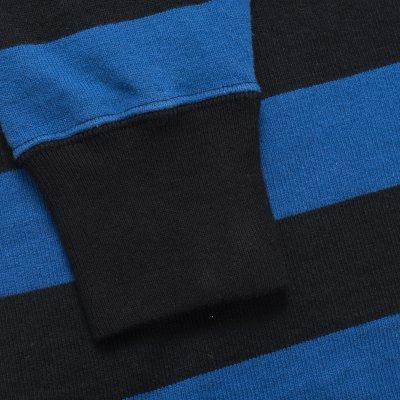 11oz Cotton Knit Long-Sleeved Sweater - Blue/Black