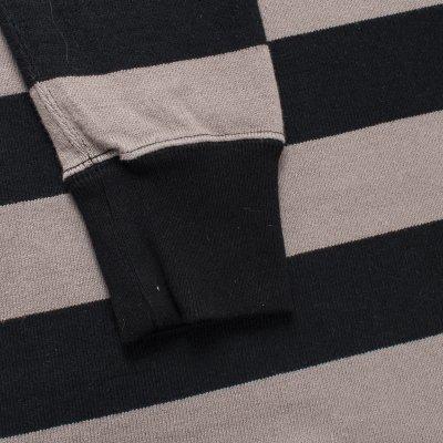 11oz Cotton Knit Long-Sleeved Sweater - Grey/Black