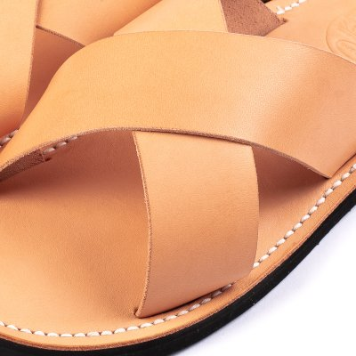 OGL X Dr. Sole Leather Cross Sandals