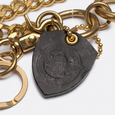 Wallet Chain with Large Clip and Keyring - Brass
