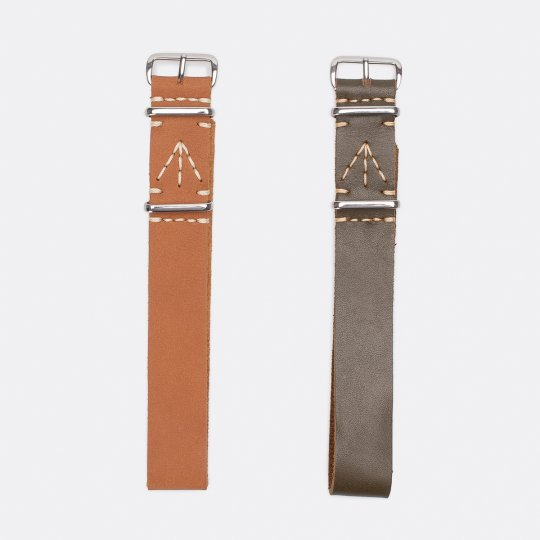 OGL Blenheim Leather Nato Watch Strap - Sahara or Olive