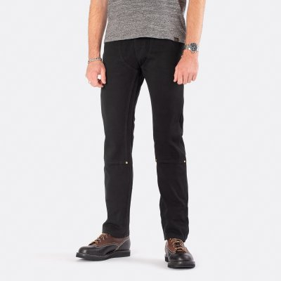11oz Cotton Twill Double Fronted Work Pants - Black