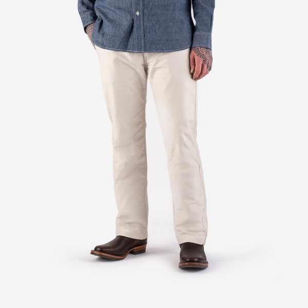 11oz Cotton Whipcord Work Pants - Ivory