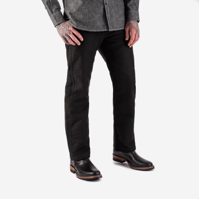 11oz Cotton Whipcord Work Pants - Superblack