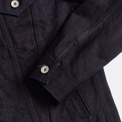 14oz Selvedge Denim Modified Type III Jacket -  Indigo/Black