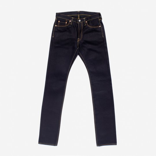 25oz Indigo/Black Selvedge Denim Super Slim