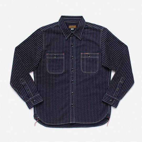 12oz Wabash Work Shirt - Indigo with Black Buttons
