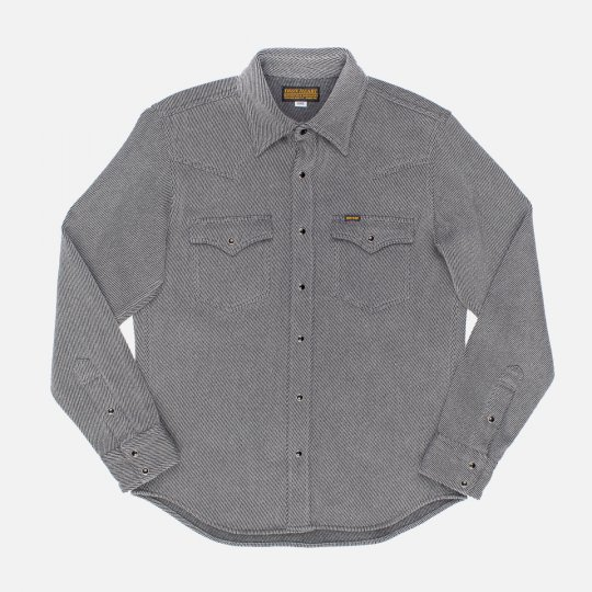 Top Dyed Heavy Kersey Western Shirt - Grey