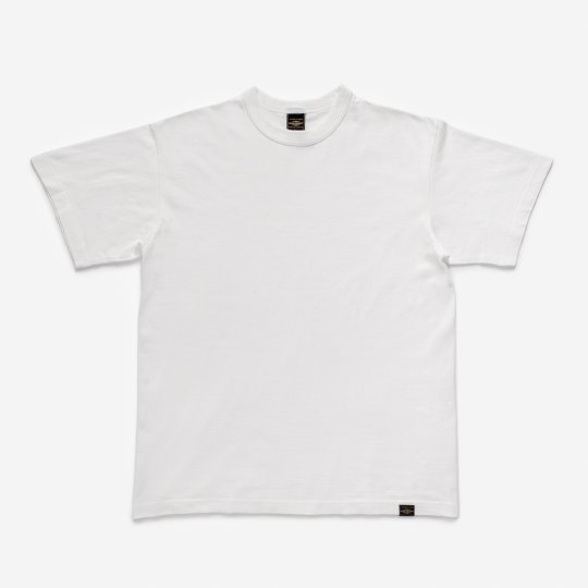 6.5oz Loopwheel Crew Neck T-Shirt with longer body - White