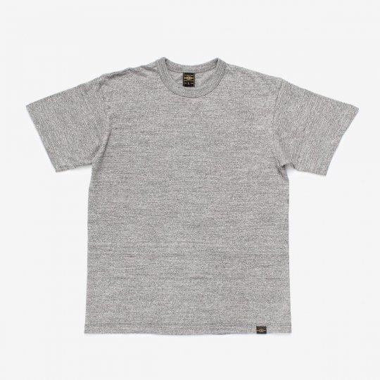 6.5oz Loopwheel Crew Neck T-Shirt with longer body - Grey