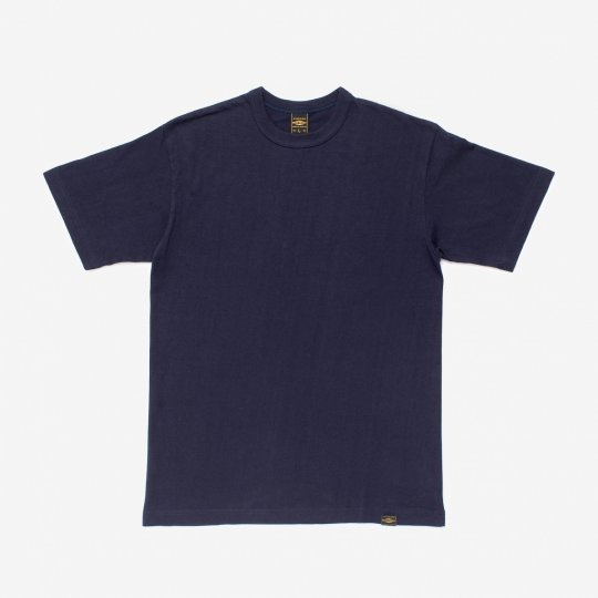6.5oz Loopwheel Crew Neck T-Shirt with longer body - Navy