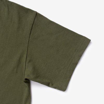 6.5oz Loopwheel Crew Neck T-Shirt with longer body - Olive