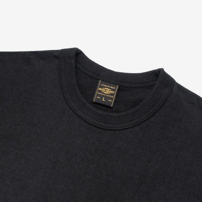 6.5oz Loopwheel Crew Neck T-Shirt with longer body - Black