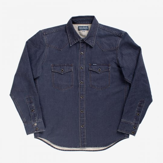 Pigment Printed Western Shirt - Navy