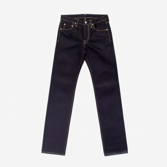 25oz Selvedge Denim Slim Straight Cut Jeans - Indigo/Black