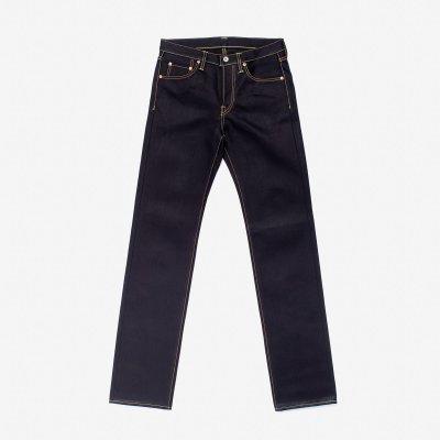 25oz Selvedge Denim Slim Straight Cut Jeans - Indigo/Black