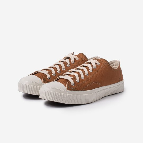 17oz Cotton Duck Low-Top Sneakers - Brown