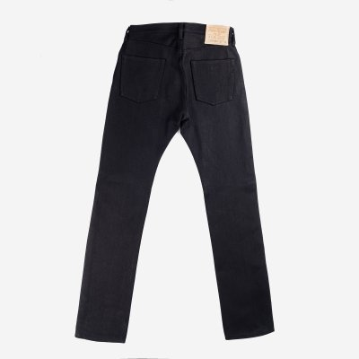 25oz Selvedge Denim Super Slim Jeans - Black/Black