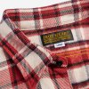 Ultra Heavy Flannel Small Block Check Work Shirt - Red