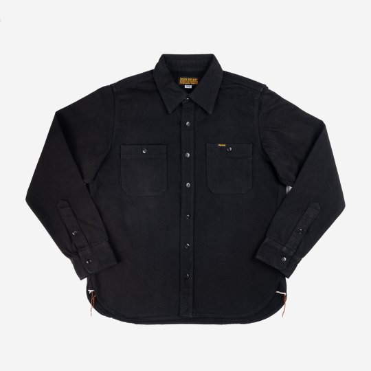 "12oz Selvedge Denim Work Shirt ""The Johnny Cash Works Again"" - Black"