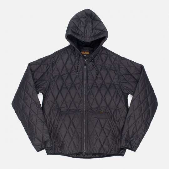 Lightweight Quilted Parka Jacket - Black