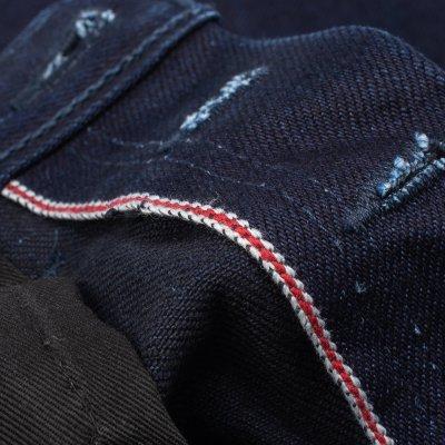 19oz Selvedge Denim Super Slim Cut  Jeans - Indigo/Black