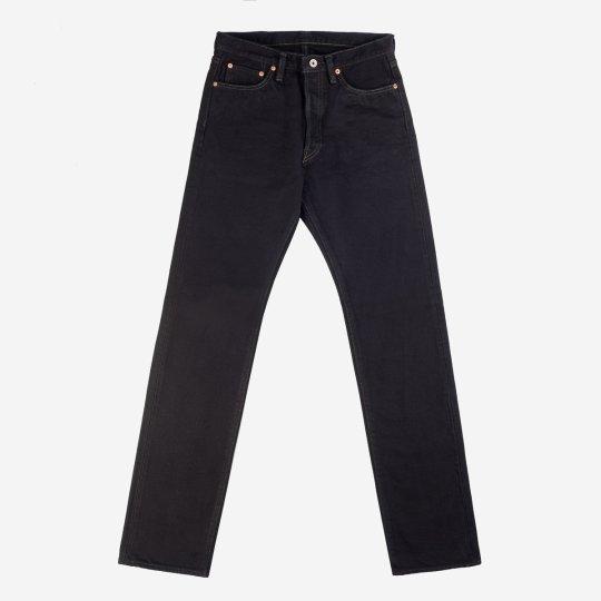 21oz Selvedge Denim Medium/High Rise Tapered Cut Jeans – Mad Black