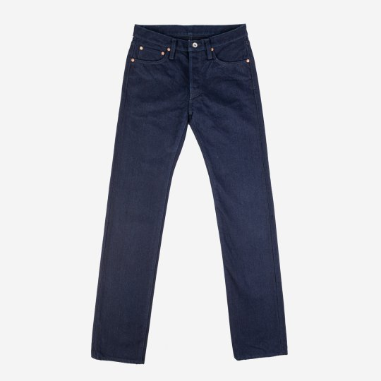 19oz Selvedge Denim Slim Straight Cut  Jeans - Indigo/Black