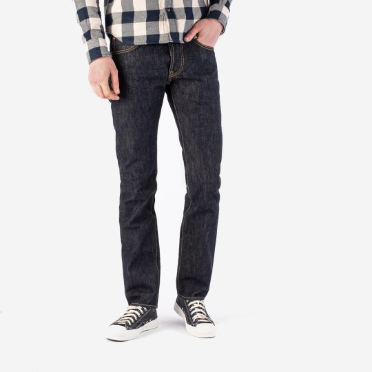 21oz Selvedge Denim Slim Tapered Shorter Inseam Jeans - Indigo