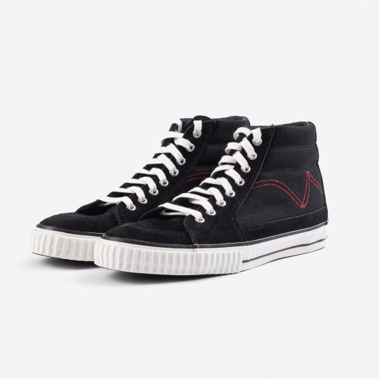21oz Denim High-Top Sneakers - Black