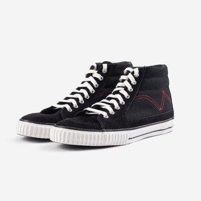 21oz Denim High-Top Sneakers - Black