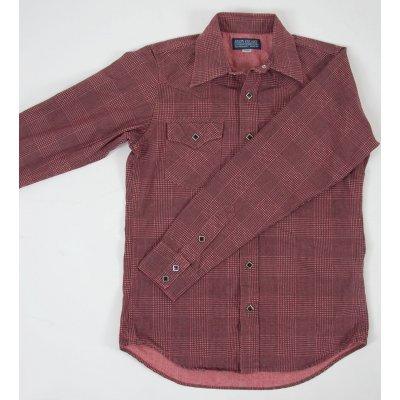Glen Check Printed Chambray Western Shirt