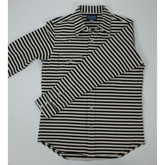 Extra Heavy Jersey Knit Prison Stripe Western Shirt