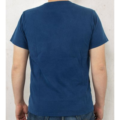 Plain TW White & Indigo Dyed 5.5oz Loopwheeled T-Shirt 2014 Version