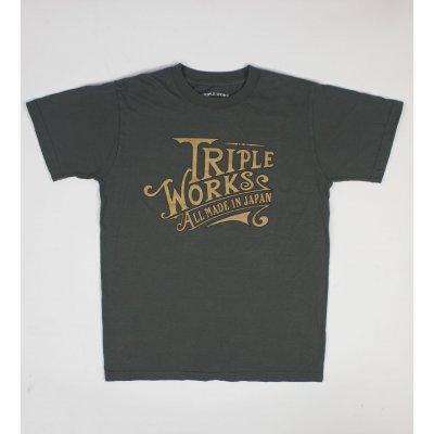 Triple Works Vintage Print 5.5oz Loopwheeled T-Shirt