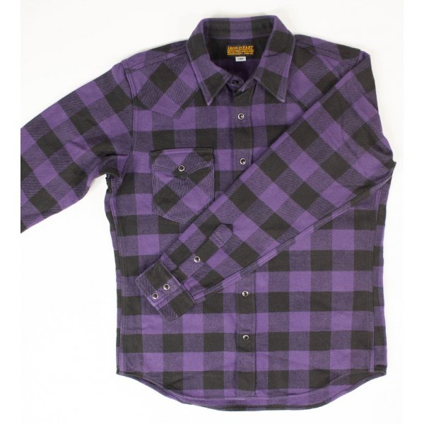 Ultra Heavy Buffalo Check Western - Purple/Black