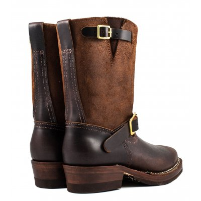 "Iron Heart/Wesco® - 9"" Brown Engineer Boot"