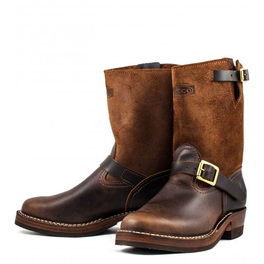 "Iron Heart/Wesco® - 9"" Brown Engineer Boot"