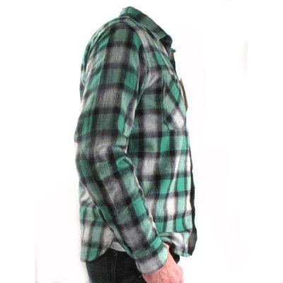 Brushed Cotton Flannel, Double Elbow Work Shirt