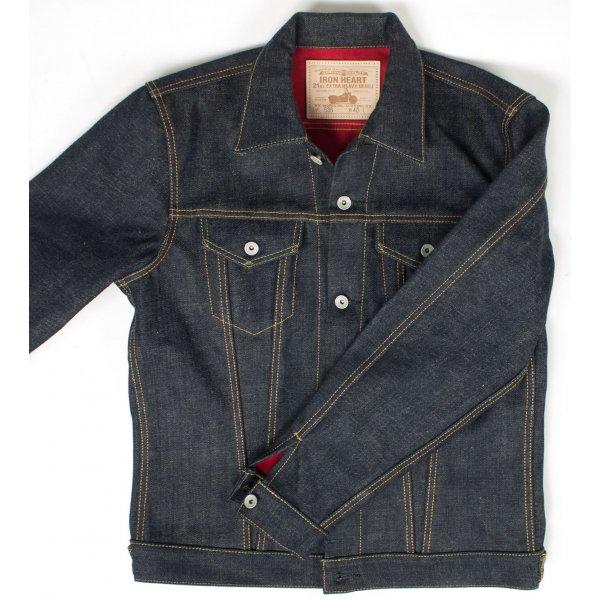 18.8oz Raw Indigo Selvage Denim/Scarlet Flannel Type III jacket