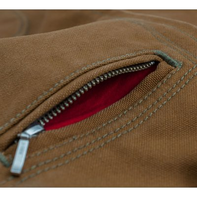 "17oz Brown Cotton Duck ""First Zip"""