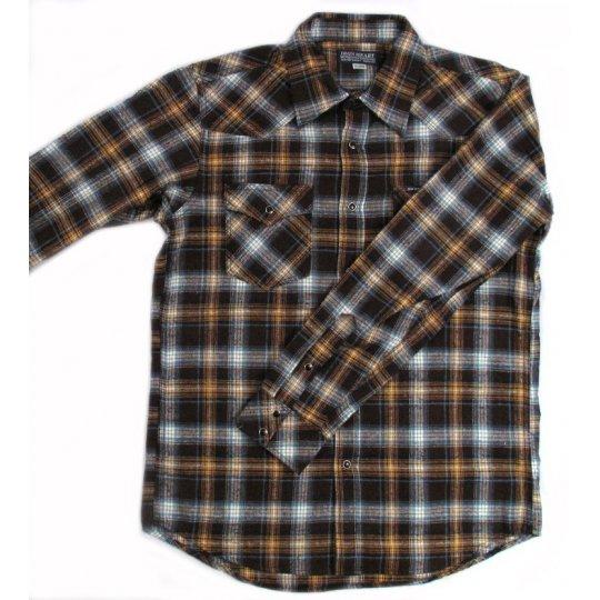 Mini Herringbone Fall Weight Flannel Western Shirt
