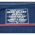 """Indigo Discharge Printed Cotton """"Dotty"""" Work Shirt"""